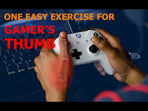 ONE Exercise to FIX Gamer's Thumb Mommy's Thumb