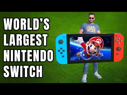 World's LARGEST Nintendo Switch! (actually works)