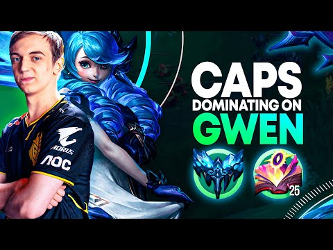 G2 Caps is SPAMMING GWEN MID? Are we sleeping on this *NEW CHAMPION*?